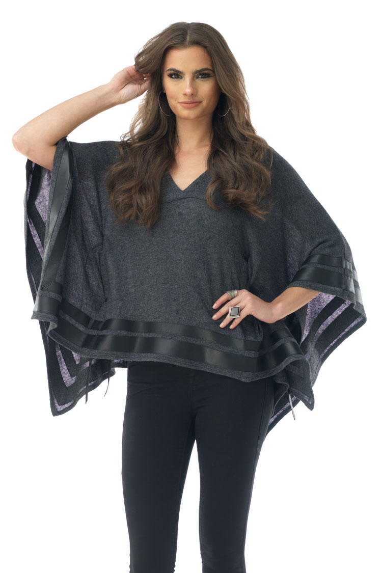 SKY Women's ERIS Sweater, Charcoal ERIS-CHR-Charcoal-Small