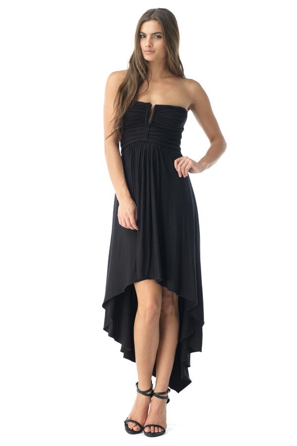 SKY Women's FEOFANA High Low Dress, Black FEOFANA-BLK-Black-Extra Small