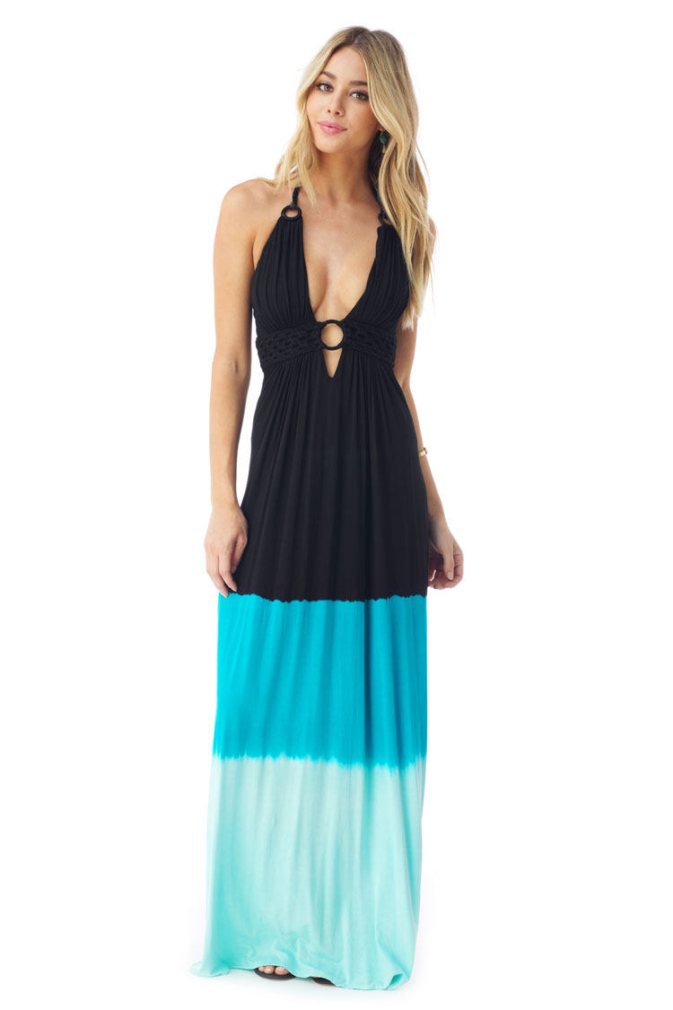 SKY Women's YENGVAR Maxi Dress, Black YENGVAR-BLK-Black-Large